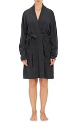 Arlotta By Chris Arlotta Women's Cashmere Fine Gauge Knit Robe Dark Grey
