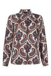 Goldie Olivia Paisley Printed Blouse By Multi