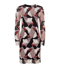 Emilio Pucci Embroidered Lace Lips Dress Female Pink