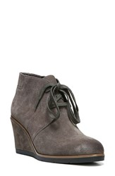 Franco Sarto Women's 'Austine' Lace Up Wedge Bootie Nimbus Grey Suede
