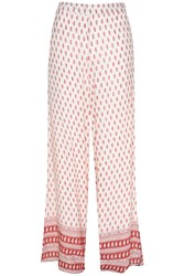 Glamorous Printed Trousers Red