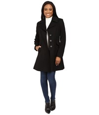 Pendleton Petite Fit And Flare Coat Black Twill Women's Coat