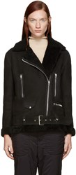 Acne Studios Black Shearling More Jacket