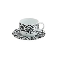 Missoni Home Bianconero Coffee Cup And Saucer Set Of 2
