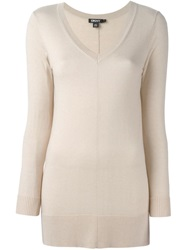 Dkny V Neck Sweater Nude And Neutrals