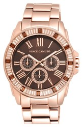 Women's Vince Camuto Crystal Bezel Multifunction Bracelet Watch 51Mm