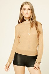 Forever 21 Ribbed Crew Neck Sweater