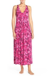 Women's Midnight By Carole Hochman 'Floral Oasis' Racerback Nightgown
