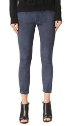 Theperfext Brittany Suede Leggings Navy