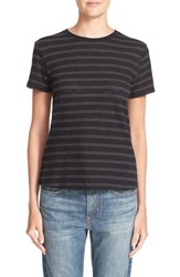 Vince Women's Stripe Pima Cotton Tee