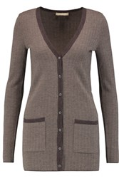 Michael Kors Collection Cashmere Cardigan Dark Brown