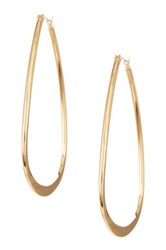 14Th And Union Wide Oval Hoop Earrings Metallic