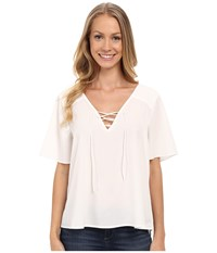 Sanctuary Kate Lace Up Top White Women's Clothing