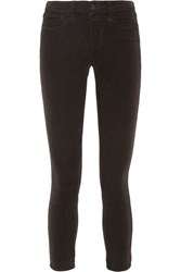 L'agence The Margot Cropped Corduroy Skinny Pants Charcoal