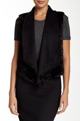 The Kooples Faux Fur Sleeveless Gilet Black