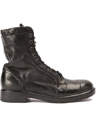 Oxs Rubber Soul Lace Up Boots Black