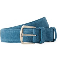 Loro Piana 3.5Cm Light Blue Suede Belt Light Blue