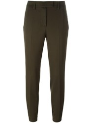Dondup Tailored Cropped Trousers Green