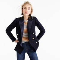 J.Crew Double Breasted Blazer In Italian Wool With Satin Lapel