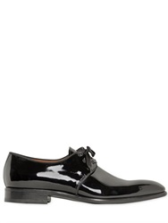Santoni Patent Leather Derby Lace Up Shoes
