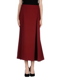 Oblique Long Skirts Brick Red