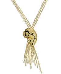 Sis By Simone I Smith 18K Gold Over Sterling Silver Necklace Cheetah Pendant