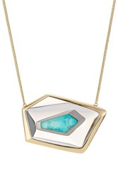 Alexis Bittar Small Floating Kite Necklace Gold