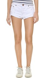 One Teaspoon White Beauty Bandit Shorts