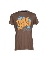 Revolution T Shirts Brown