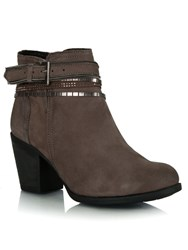 Daniel Loki Leather Embellished Ankle Boots Brown