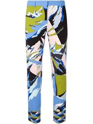Emilio Pucci Abstract Print Cropped Trousers