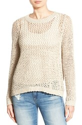 Rip Curl Women's 'Looking Back' Mesh Knit Pullover Natural
