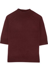 Theory Jodi B Cashmere Sweater Burgundy