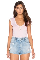 Velvet By Graham And Spencer Estina Gauzy Whisper Scoop Neck Tank Pink