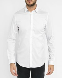 Ikks White Slim Fit Shirt With Collar Details