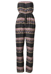 Ltb Carmento Jumpsuit Navy Ethnic Blue