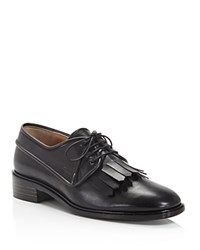 Salvatore Ferragamo Faber Kiltie Lace Up Oxfords Nero