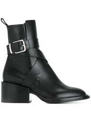 Jil Sander Buckled Ankle Boots Black