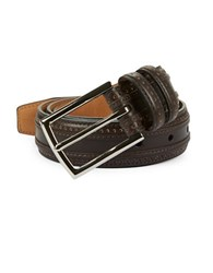 Cole Haan Perforated Leather Belt Black