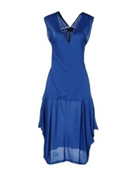 Richmond Denim Knee Length Dresses Blue