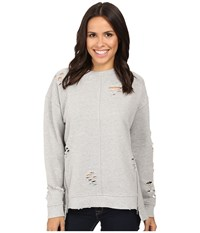 Joe's Jeans Lyndon Pullover Heather Grey Women's Clothing Gray