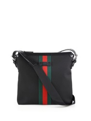 Gucci Web Band Canvas Small Messenger Bag Black