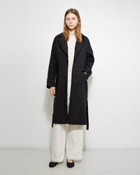 Pas De Calais Belted Trench Coat Black