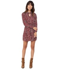 Bb Dakota Jamila Printed Keyhole Dress Burnt Red Women's Dress