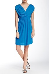 Lilla P Flame Cross Front Dress Blue