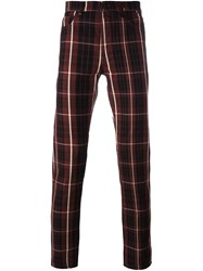 Vivienne Westwood Anglomania Checked Trousers Red