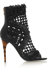 Balmain Braided Leather Sandals