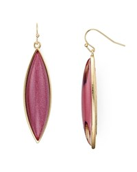 Aqua Brynnie Marquis Drop Earrings Burgundy