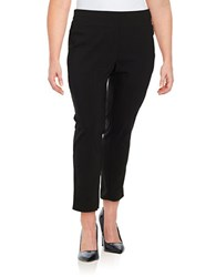 Lord And Taylor Plus Slim Ankle Pants Black