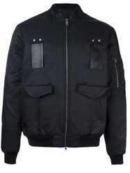 Les Benjamins Pocketed Bomber Jacket Black
